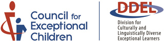 Division for Culturally and Linguistically Diverse Exceptional Learners (DDEL) logo